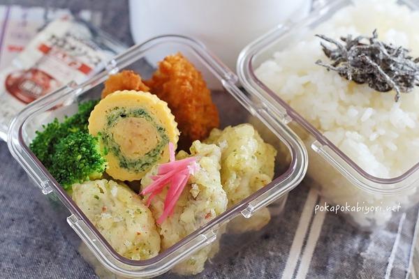 鶏天弁当|鶏天+三色卵焼きのレシピ付き