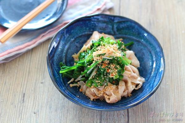 春菊とえのきの肉和え&中学校の調理実習の話