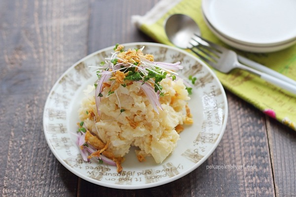 オイスターソースで作る極うま【ポテトサラダ】(#エスビー食品タイアップ)