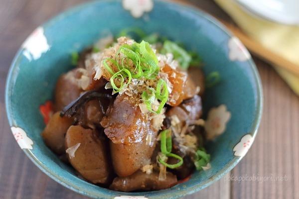 業務スーパー板こんにゃく37円(国産)でピリ辛こんにゃく煮レシピ