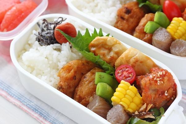 揚げ餃子・ヤンニョムチキンの作り置き弁当|簡単レシピ付き