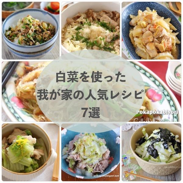 白菜を使った我が家の人気レシピ7選〜ご飯が進むものから箸休めまで