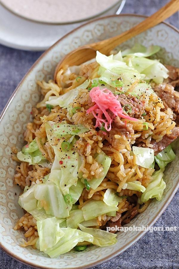 お家で作る美味しいソバメシ(そば飯)のレシピ