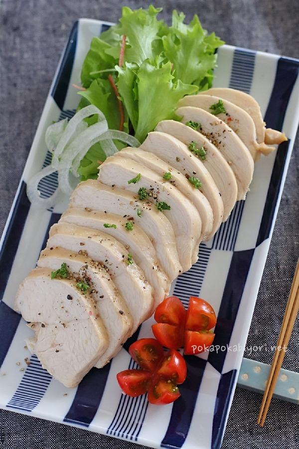 レンジで作る柔らか鶏ハム