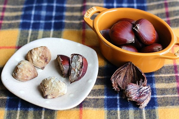 圧力鍋の二段調理で栗の【茹でvs蒸し】実験