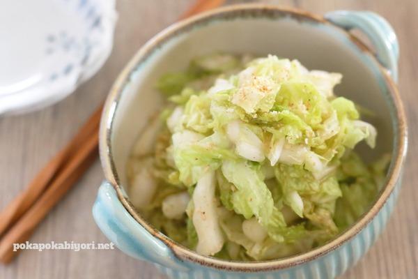 塩もみ白菜の中華風胡麻和えのレシピ|旦那の健康診断結果への呟き
