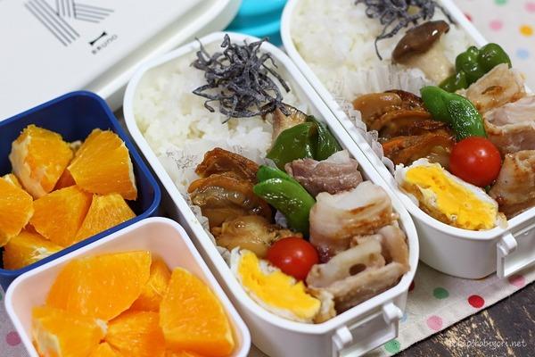今日の弁当|レンコン豚肉巻き、ホタテの甘辛煮の簡単レシピ