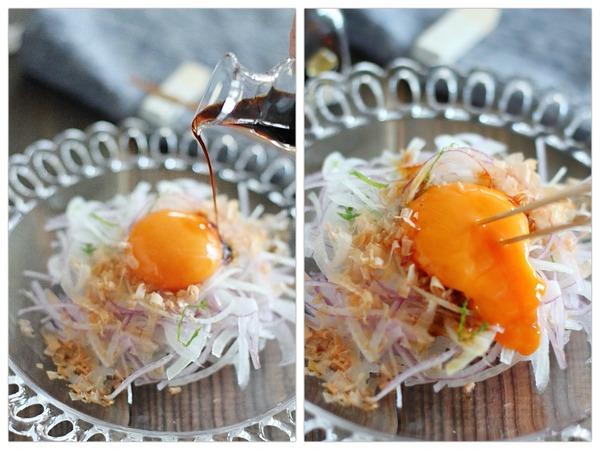 会津地鶏卵で作るオニオンスライスのレシピ