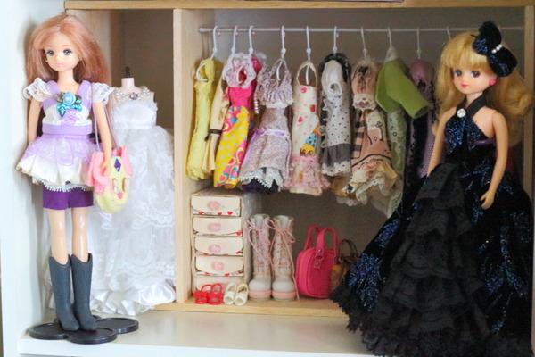 リカちゃん人形の手作りクローゼット &小物収納の仕方