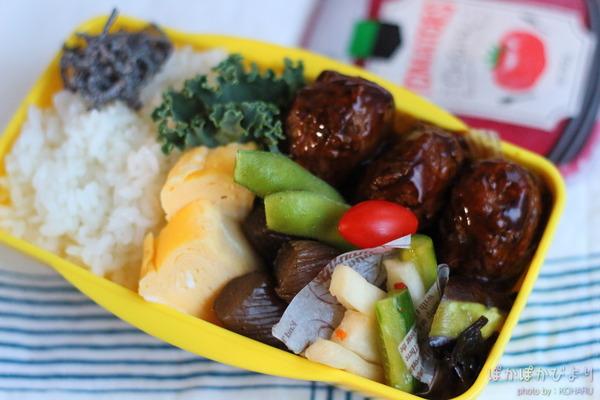 黒酢肉団子&ピリ辛きゅうりの弁当