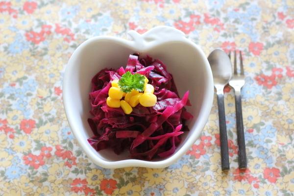 紫キャベツの甘酢漬け ~弁当の彩りおかずに◎