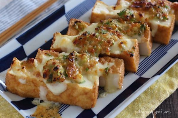簡単でおいしい人気レシピ!厚揚げのねぎ味噌マヨ焼き