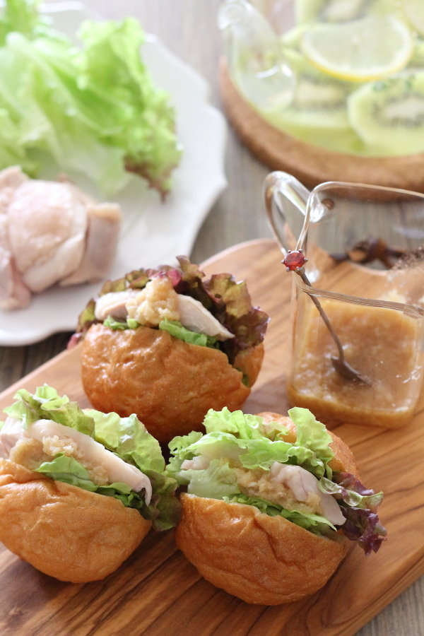 茹で鶏のご馳走サンドイッチレシピ/水で料理がどう美味しくなるか:連載UPのお知らせ