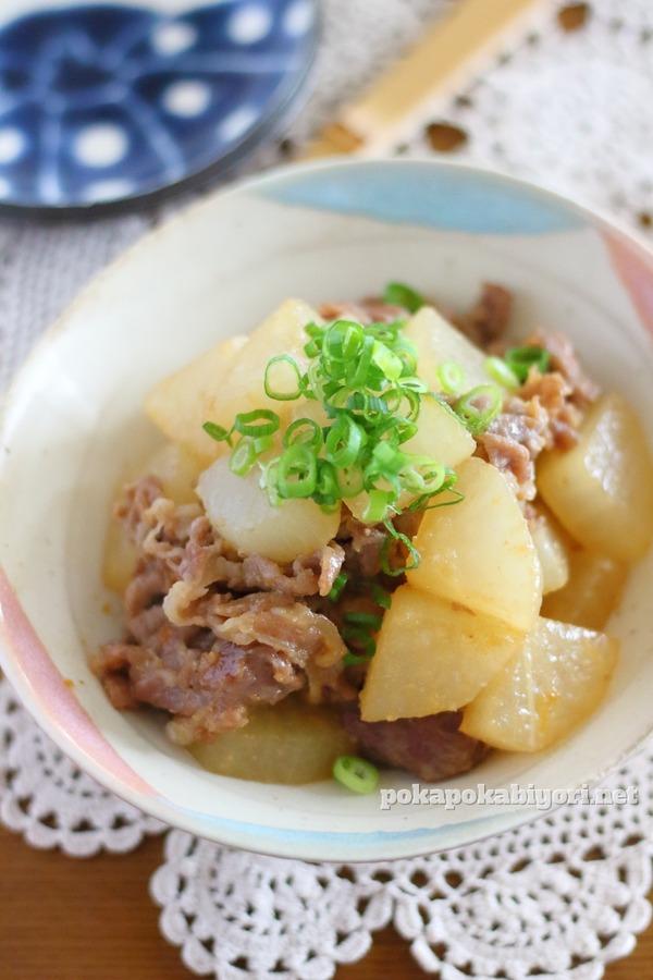 豚肉と大根のフライパンで作る簡単甘辛おかず