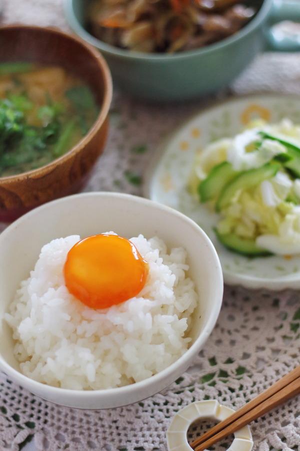 卵かけご飯の献立例