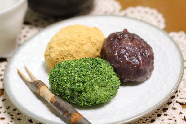 簡単おはぎ3種|白米に切り餅を混ぜて炊くだけで、ちゃんとおいしいよ〜