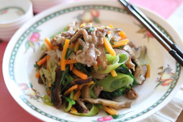 レンジで6分!肉野菜炒め