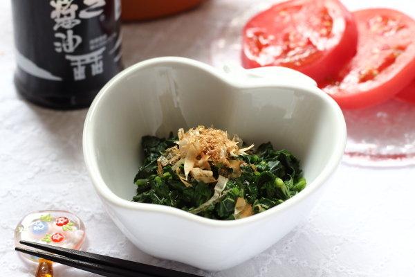 モロヘイヤの茎活用レシピと、子どもも大好き【モロヘイヤのおかかしょう油和え】