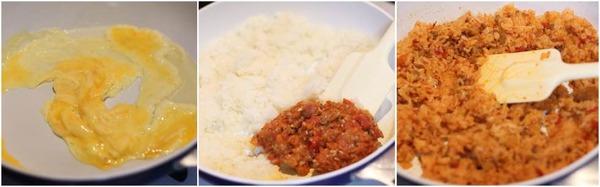 ミートソース炒飯の詳しい作り方