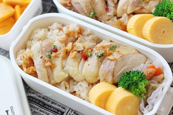 これは楽すぎる!炊飯器で作る【海南鶏飯弁当】(レシピ・ポイント付き)
