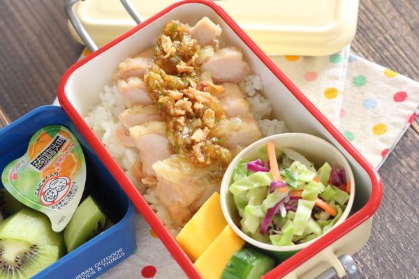 弁当記録|鶏唐ねぎソース・コールスローサラダの簡単レシピ付き