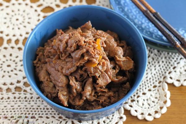 牛肉の醤油マーマレード炒め(フライパン10分)