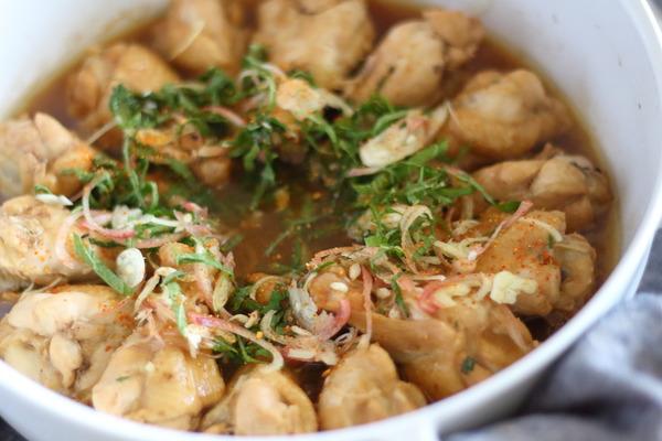 鶏手羽のポン酢煮|雑穀米入りご飯の炊き分け方