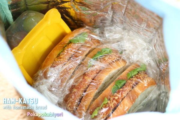 パン弁当の振り返り|ミニバーガーやハムカツサンドの作り方