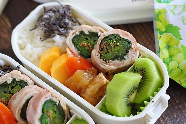 豚バラ小松菜と肉じゃがのお弁当