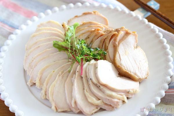 鶏ハム(サラダチキン)の作り方/電子レンジ・保温調理・スロークッカー