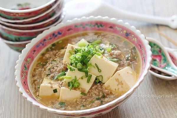ヘルシー塩麻婆豆腐(我が家の「しんどい時の楽チンレシピ」です)