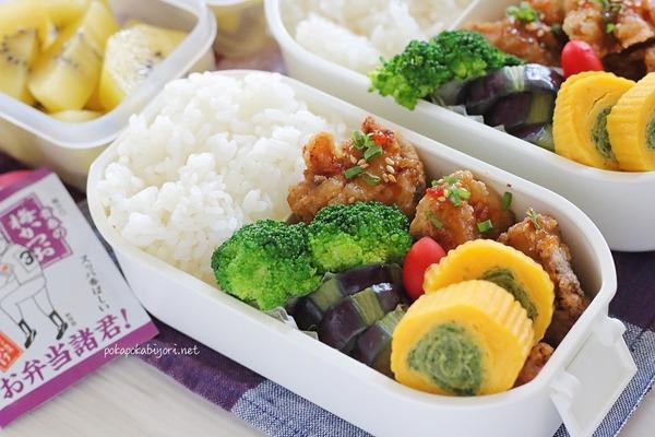 鶏竜田揚げ弁当|前夜の作り置き写真+ブロッコリーのオススメの茹で方