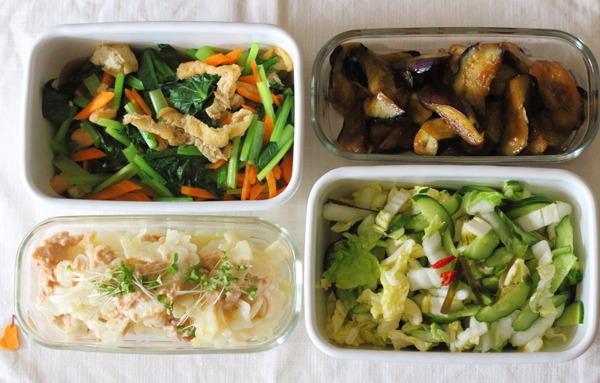 野菜たっぷりな副菜4品 ~レシピいらないくらい簡単