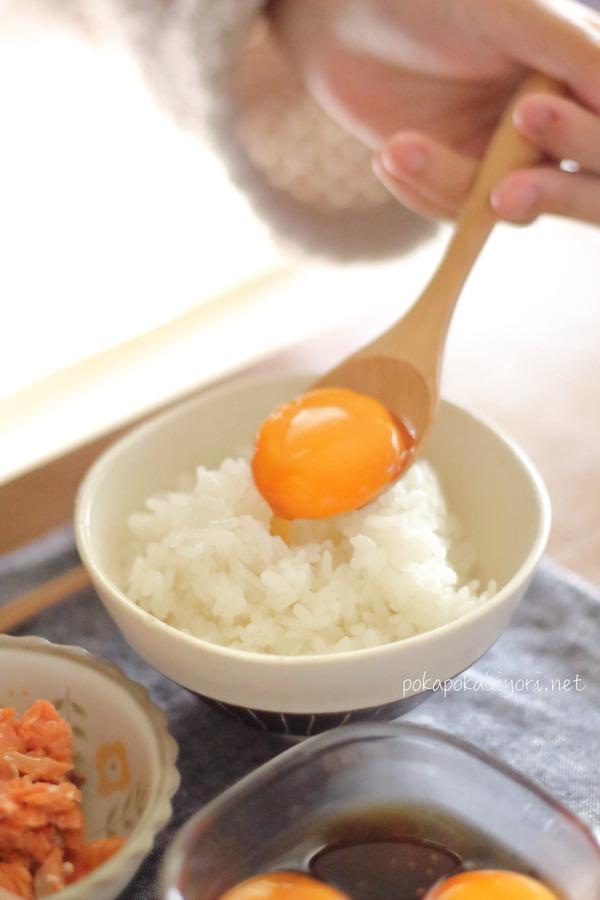 味噌のたまりで卵黄漬け