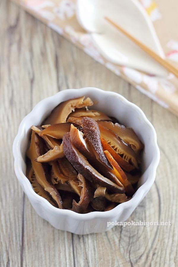 レンジで作るしいたけの甘辛煮のレシピ