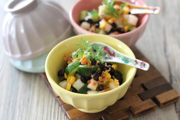 【キュウちく】お洒落サラダ ~スイートチリソースの普及率ってどれくらいなの??