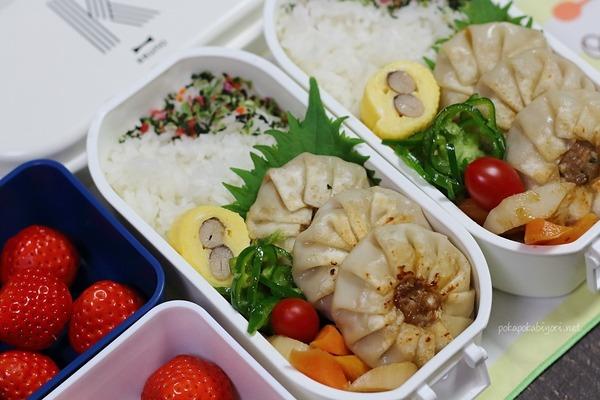 弁当記録|大葉餃子・れんこん甘酢煮のレシピ付き
