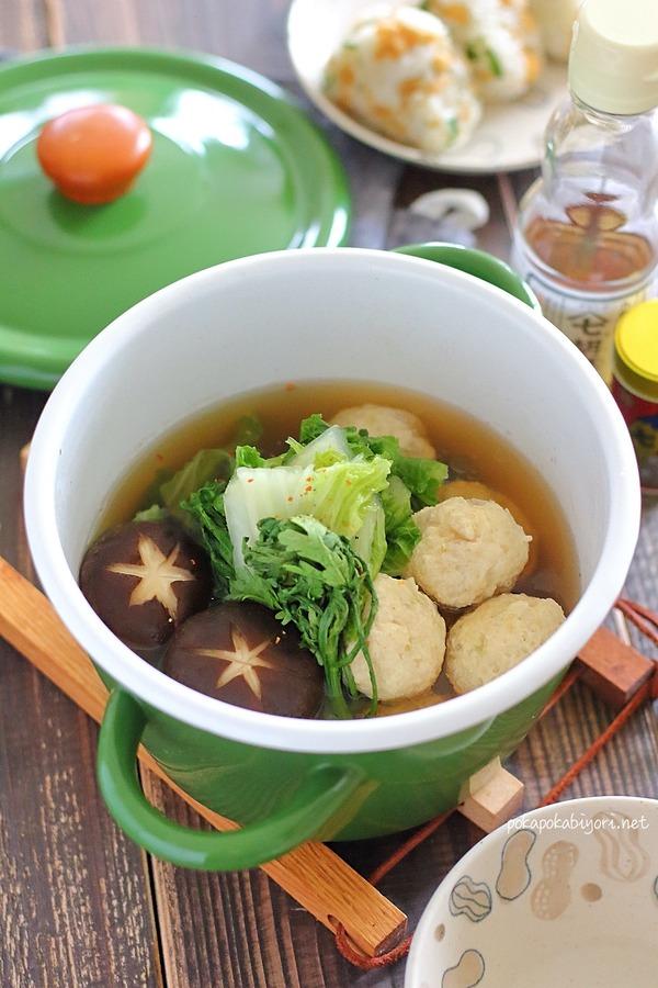 れんこん入り鶏団子鍋のレシピ