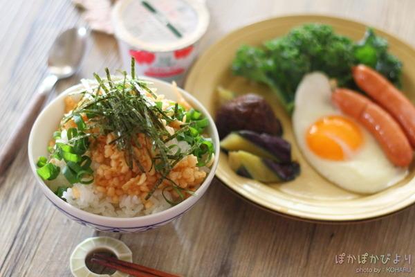 1分で作れる【たぬき丼】&副菜もあっという間のランチプレート