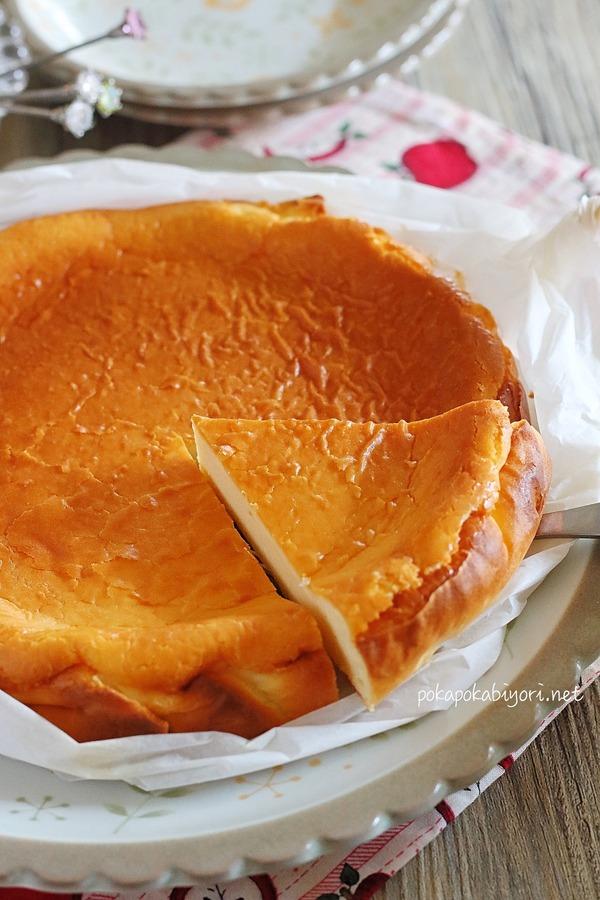 混ぜて焼くだけのチーズケーキ