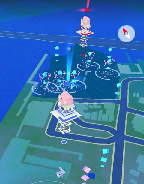 【ポケモンGO】ジムの調整で、各地のハピナスタワーが更地にされてるwwww