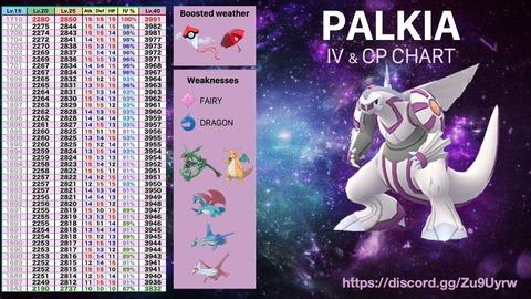 パルキア個体値一覧6