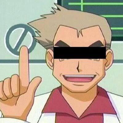 目隠しオーキド博士