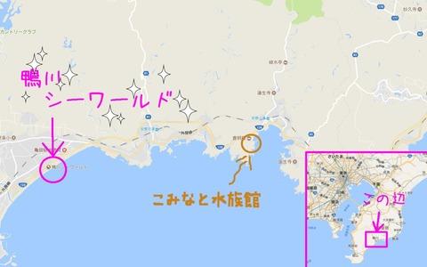 こみなと水族館map