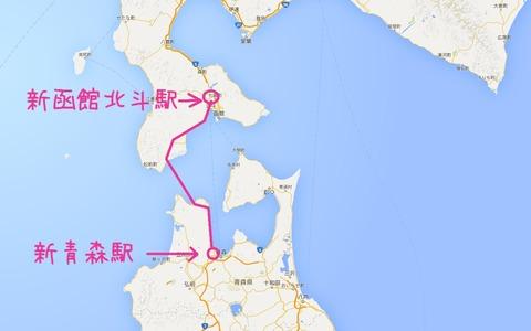 北海道新幹線のルート