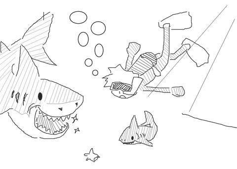 サメもいる