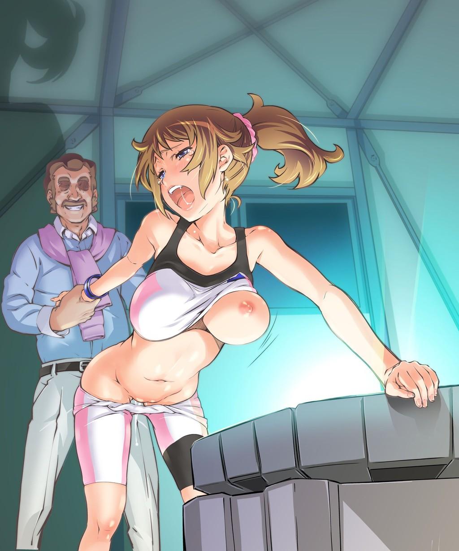 服から片乳露出 女一人  -コミック -人外466