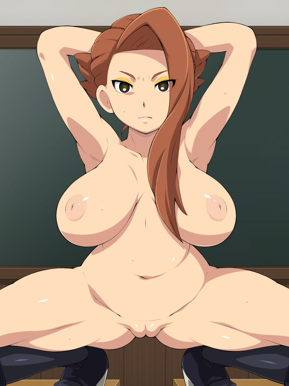squatting solo nude -ペニス076