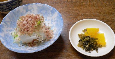 ちかちゃん_豆腐,漬物