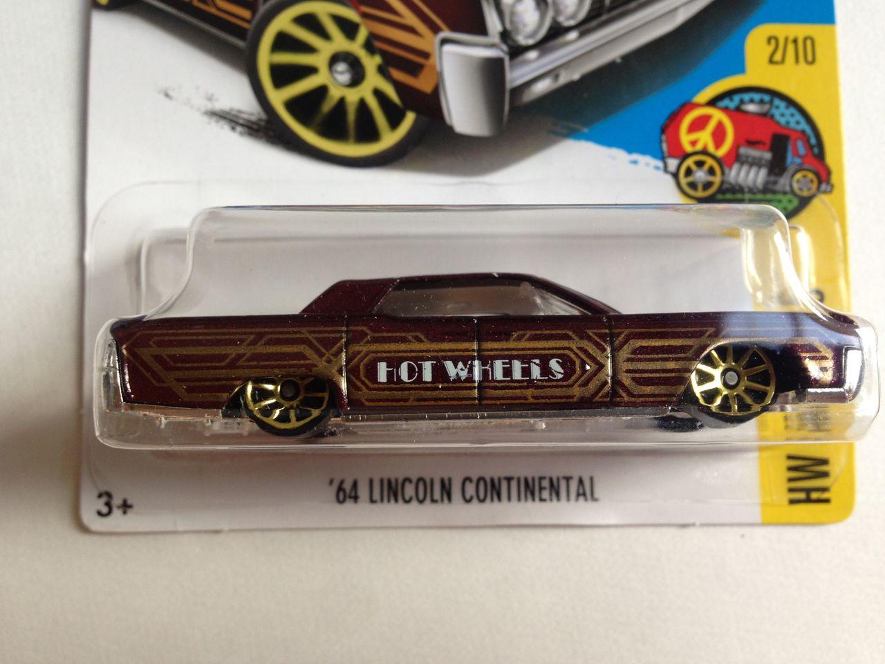 2017 Hot Wheels #15 HW Art Cars /'64 Lincoln Continental